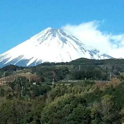 新富士駅付近から見た富士山